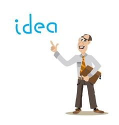 Businessman found the idea for business vector