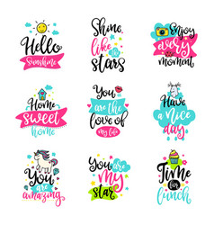 Calligraphy with decor elements vector
