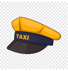 Cap taxi driver icon cartoon style vector