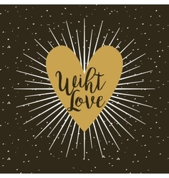 card of with love design vector image