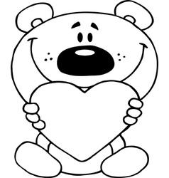 Cartoon teddy bear vector