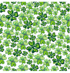 clover seamless background vector image