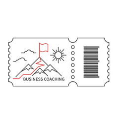 coaching business logo vector image