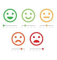 Customer service satisfaction survey form quality vector