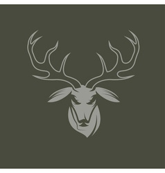 deer head design template vector image