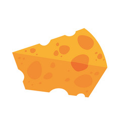 Delicious cheese food vector