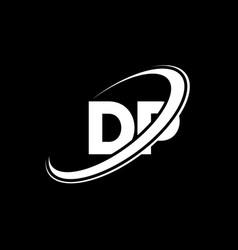 dp d p letter logo design initial letter dp vector image