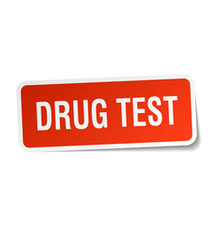 Drug test square sticker on white vector