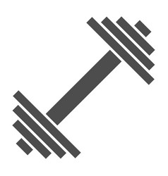 Dumbbell solid icon weights vector