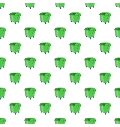 Dumpster pattern cartoon style vector