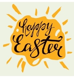 Easter Lettering 06 A-02 vector image