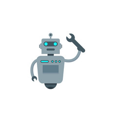 Fix robot logo icon design vector
