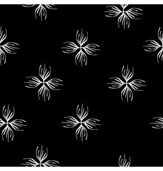 Floral abstract seamless pattern vector image