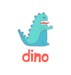 funny cartoon dino logo vector image