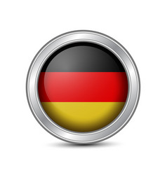 Germany silver round badges vector