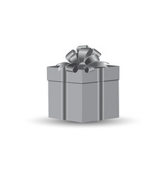 gift in gray tone 2 vector image