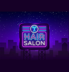 Hair salon sign design template hairdress vector