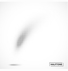 Halftone curved gradient texture curve smears vector
