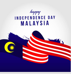 Happy malaysia independent day template design vector