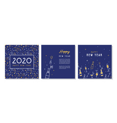 happy new year- 2020 collection greeting vector image