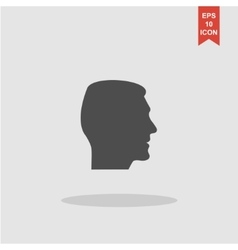 head icon Flat design style vector image