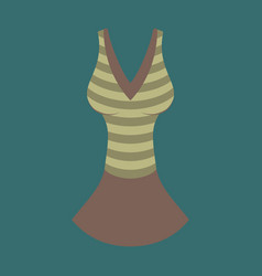 icon in flat design fashion clothes summer dress vector image