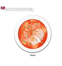 Kimchi or Korean Salted Cabbage or Vegetables vector