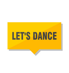 lets dance price tag vector image