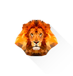lion geometric in triangle style vector image
