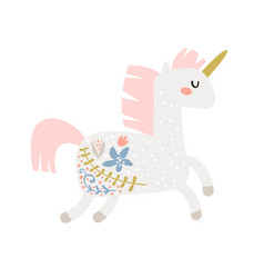 Magic unicorn childish stay unique vector