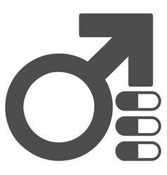 Male erection pills flat icon vector