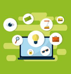 Media marketing business concept vector