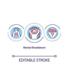 mental breakdown concept icon vector image