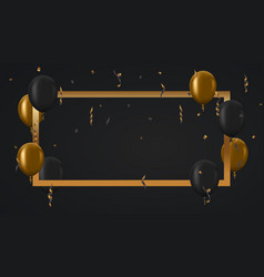 modern golden balloons background for happy vector image