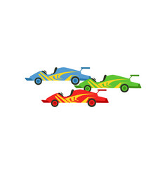 Motorsports race cars vector
