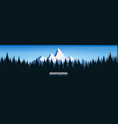 nature landscape background with silhouettes of vector image