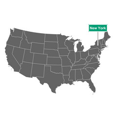 New york state limit sign and map usa vector