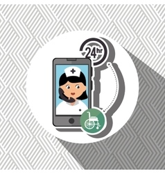 Nurse 24-hour health disabilit isolated icon vector