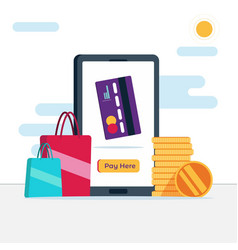 Online money transfer with mobile vector