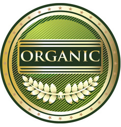 organic gold label vector image