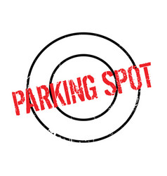 Parking spot rubber stamp vector