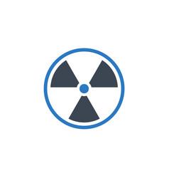 radioactive related glyph icon vector image