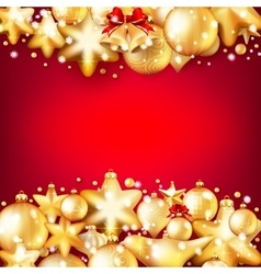Red and gold christmas background EPS 10 vector image vector image