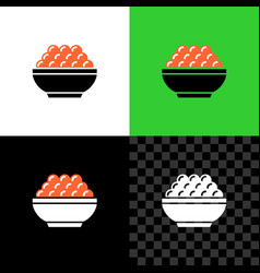 red caviar serving in a small bowl simple icon vector image