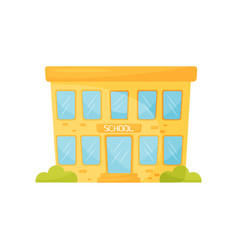 school building school education and knowledge vector image