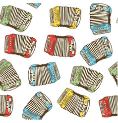 seamless pattern bayans or accordions vector image