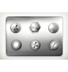Set screws vector