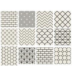 Set texture seamless patterns vector