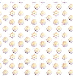 snowflakes Christmas and new year design pattern vector image vector image