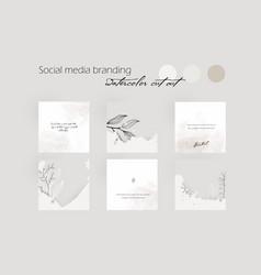 Social media branding template for instagram vector